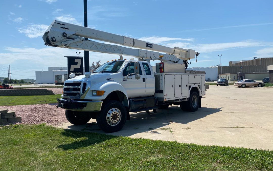 2011 Ford F750 Super Duty 4×4 Extended Cab 65′ Aerial Truck(MPFP1294)