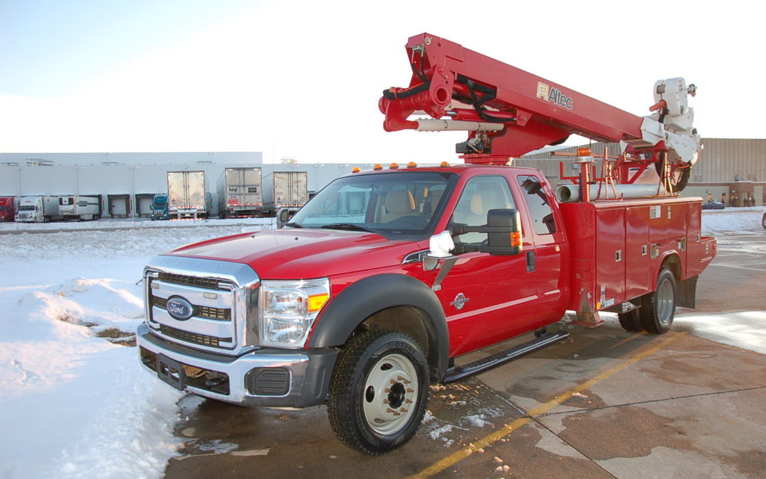2013 F550 4×4 Super-duty 4×4 Extended cab 45′ Aerial Truck (MPFP1317)